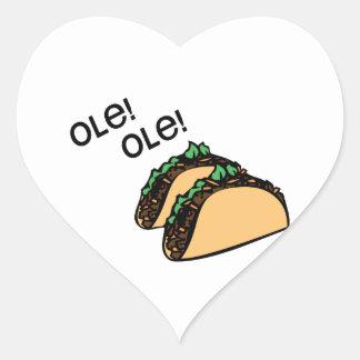 Ole Taco Heart Sticker