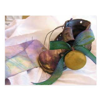 Ole Time Baby Shoe & Locket Postcard
