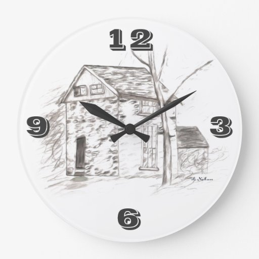 OLE TIME Tic Toc Round Wallclock