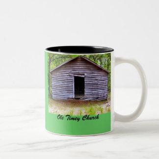 Ole Timey Church Two-Tone Coffee Mug