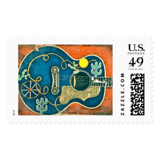Ole Western Guitar Stamps