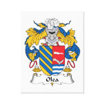 Olea Family Crest Stretched Canvas Prints