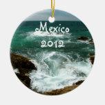 Oleada pacífica mexicana; Recuerdo de México Ornamentos De Navidad