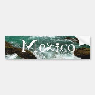 Oleada pacífica mexicana; Recuerdo de México Pegatina Para Auto