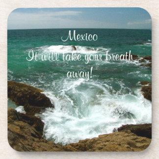 Oleada pacífica mexicana; Recuerdo de México Posavasos De Bebidas