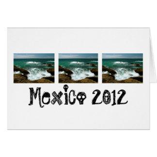 Oleada pacífica mexicana; Recuerdo de México Tarjeta De Felicitación