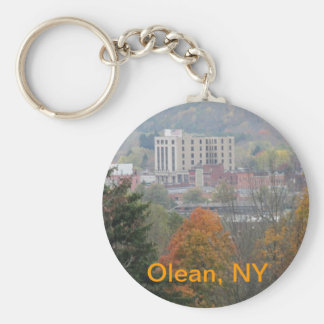 Olean, NY Basic Round Button Keychain