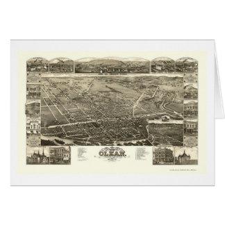 Olean, NY Panoramic Map - 1882 Greeting Card