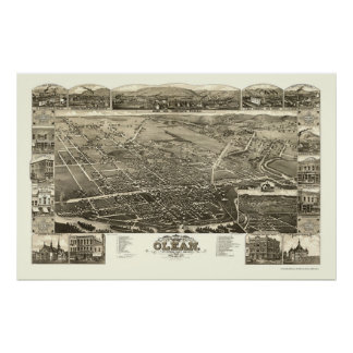 Olean, NY Panoramic Map - 1882 Poster