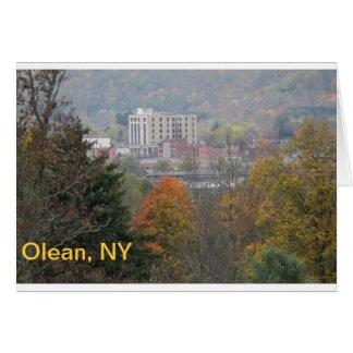 Olean, NY Postcard Greeting Card