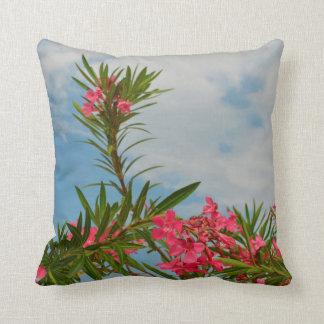 oleander bush flower floral florida throw pillow