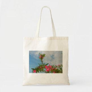 oleander bush flower floral florida tote bag
