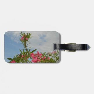 oleander bush flower floral florida travel bag tags