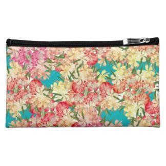 Oleander Floral Botanical Tropical Flowers Bag Makeup Bags