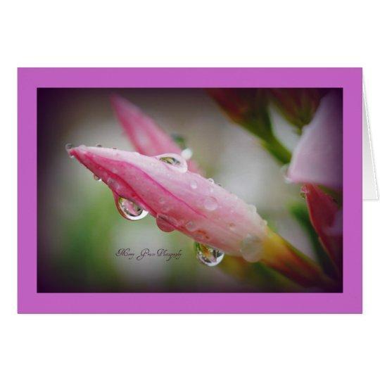 Oleander Raindrops Card