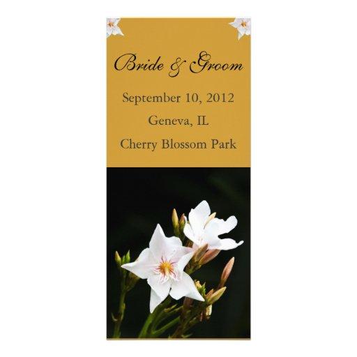 Oleander Tropical Wedding Program Card Personalized Rack Card