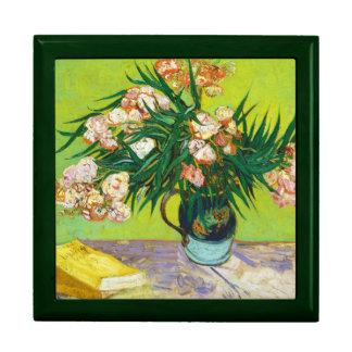 Oleander Vincent van Gogh de las ramas del tarro d Caja De Regalo