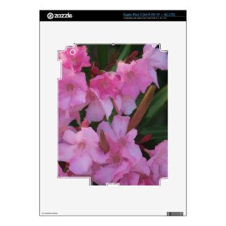 OLEANDERS ROSADOS iPad 3 PEGATINAS SKINS