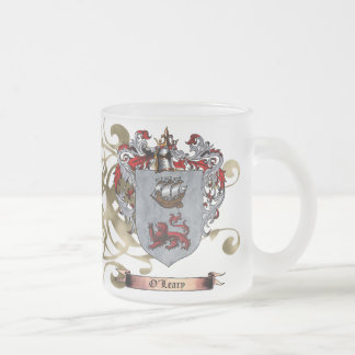 O'Leary Coat of Arms (2-sided) 10 Oz Frosted Glass Coffee Mug