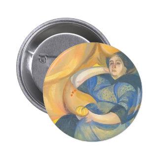 Oleksandr Bogomazov- Female portrait Button