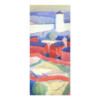Oleksandr Bogomazov- Landscape with red houses Full Color Rack Card