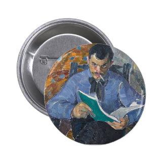 Oleksandr Bogomazov- Portrait of painter Burdanov Buttons