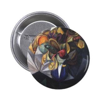 Oleksandr Bogomazov- Still life with flowers Pinback Buttons