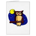 Olen Owl Greeting Card