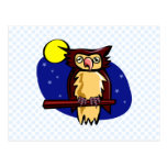 Olen Owl Postcard