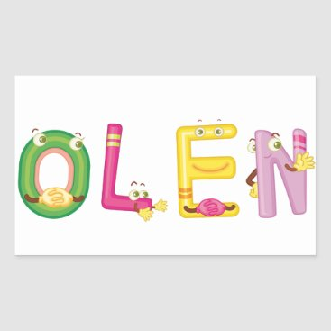 Beach Themed Olen Sticker