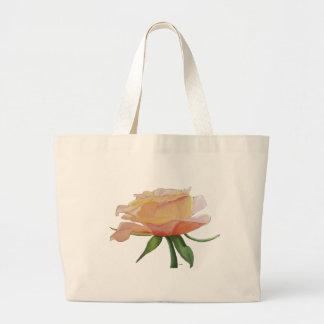 Oler la bolsa de asas de los rosas