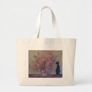 oler la floración bolsa de tela grande