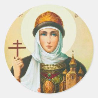 Olga Classic Round Sticker