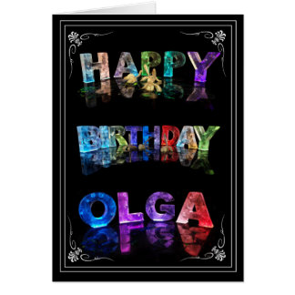 Olga - nombre en la tarjeta de felicitación de las