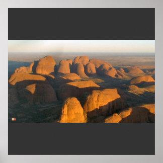 Olgas en el amanecer - Australia Póster