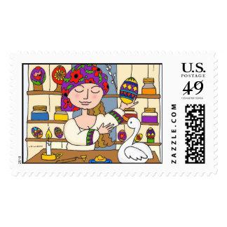 Olga's Pysanky Shop Postage Stamps