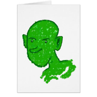 Oli, the mouthless goblin greeting card