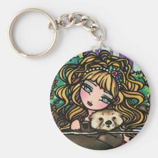Oliana s Otter Fantasy Mermaid Sea Otter Fairy Key Chain