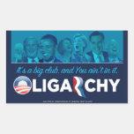 Oligarchy 2012 rectangular sticker