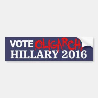 Oligarquía Hillary del voto 2016 pegatinas Pegatina Para Auto