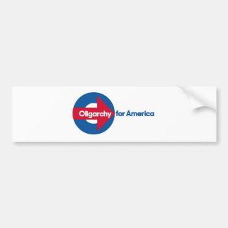 Oligarquía para América Pegatina Para Auto