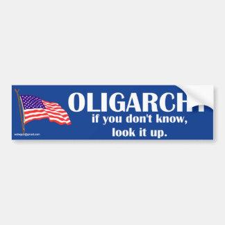 oligarquía pegatina para auto