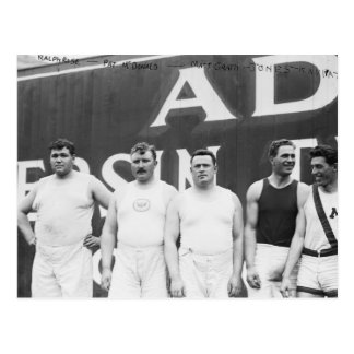 Olímpicos americanos en Estocolmo, 1912 Postales