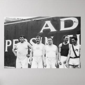Olímpicos americanos en Estocolmo, 1912 Póster