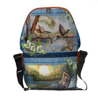olio su tela dipinto originale titolo la natura commuter bags