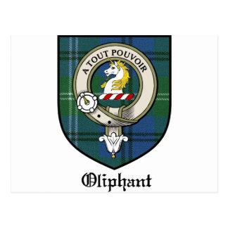 Oliphant Clan Crest Badge Tartan Post Card