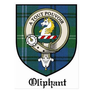 Oliphant Clan Crest Badge Tartan Postcard