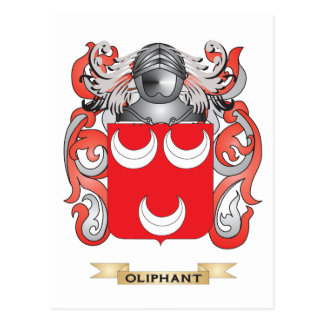 Oliphant Coat of Arms Family Crest Post Card