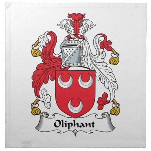 Oliphant Family Crest Printed Napkin