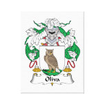 Oliva Family Crest Canvas Prints